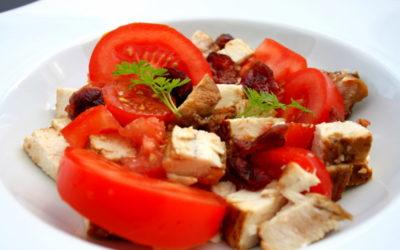 Salade thon tomates cranberries séchées