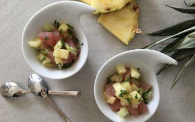 Ceviche de thon ananas céleri