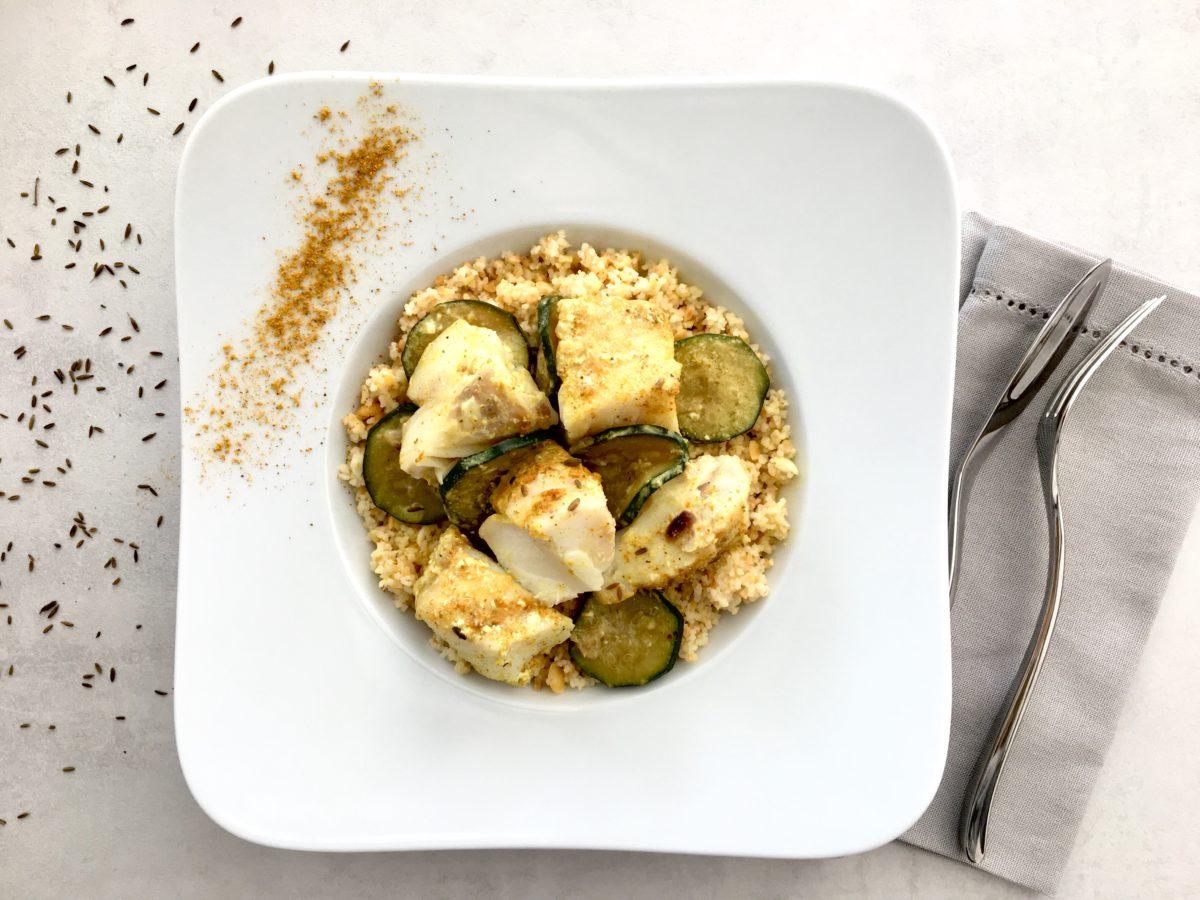 Cabillaud en croûte d'amandes haricots verts