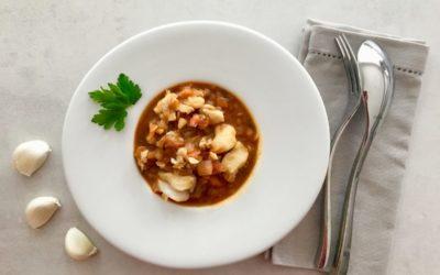 Soupe de poisson blanc à l'espagnol