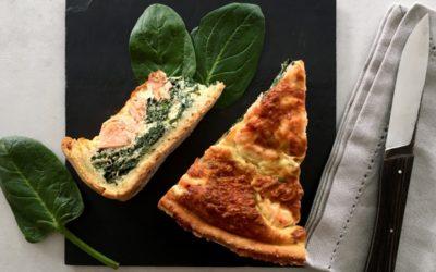 Quiche légère saumon épinards fromage blanc 0%